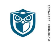 owl shield blue | Shutterstock .eps vector #338496338