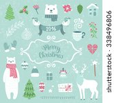 merry christmas decoration... | Shutterstock .eps vector #338496806