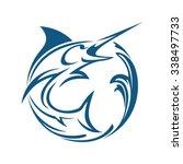 marlin fish water | Shutterstock .eps vector #338497733