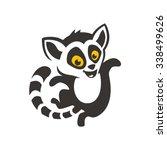 lemur cartoon dance | Shutterstock .eps vector #338499626