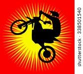 motocross enduro free ride sign.... | Shutterstock .eps vector #338501540