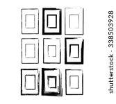 set of grunge rubber texture... | Shutterstock .eps vector #338503928