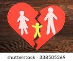 paper cutout silhouette of a... | Shutterstock . vector #338505269