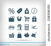 shopping icons | Shutterstock .eps vector #338508350