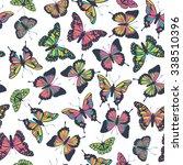 vector butterflies pattern.... | Shutterstock .eps vector #338510396