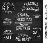 hand drawn lettering slogans... | Shutterstock . vector #338513396