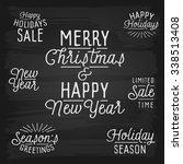 hand drawn lettering slogans... | Shutterstock . vector #338513408