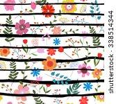 vector illustration of floral... | Shutterstock .eps vector #338514344