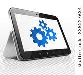 marketing concept  tablet...   Shutterstock . vector #338527634