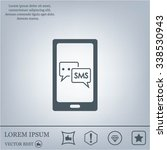 smartphone email or sms icon....