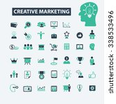 creative marketing  icons ... | Shutterstock .eps vector #338533496