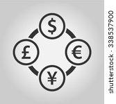 currency exchange dollar  euro  ... | Shutterstock .eps vector #338537900