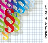 paragraph colorful paper... | Shutterstock .eps vector #338538494