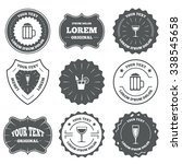 vintage emblems  labels.... | Shutterstock . vector #338545658