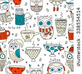 vector seamless pattern with... | Shutterstock .eps vector #338554514