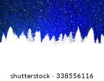 blue christmas background with... | Shutterstock . vector #338556116
