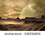 alien planet   fantasy landscape | Shutterstock . vector #338556833