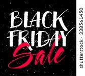black friday sale calligraphy... | Shutterstock .eps vector #338561450