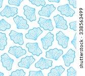seashell seamless pattern.... | Shutterstock .eps vector #338563499