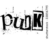 the word punk written in grunge ... | Shutterstock .eps vector #33856795