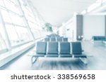 abstract blur airport interior... | Shutterstock . vector #338569658