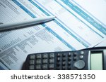 business accounting background | Shutterstock . vector #338571350