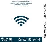 wi fi icon | Shutterstock .eps vector #338573456
