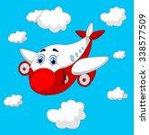 cartoon plane character   Shutterstock . vector #338577509