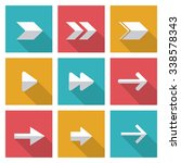 direction concept with arrow... | Shutterstock .eps vector #338578343