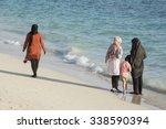 group of muslim women... | Shutterstock . vector #338590394