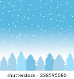 winter background with falling... | Shutterstock .eps vector #338595080