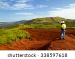 mining construction workers on... | Shutterstock . vector #338597618