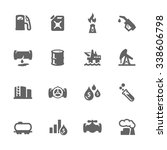 simple set of oil related... | Shutterstock .eps vector #338606798