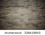 old brick wall in china | Shutterstock . vector #338618843