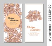 set of floral banners | Shutterstock . vector #338620430