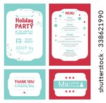 vector winter holiday party... | Shutterstock .eps vector #338621990