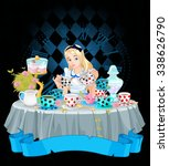 Alice Pours A Cup Of Tea From...