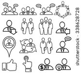 outline icons  business and... | Shutterstock .eps vector #338628728