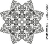 vector henna tatoo mandala.... | Shutterstock .eps vector #338630000