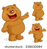 happy bear | Shutterstock .eps vector #338630084
