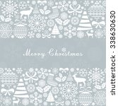 christmas greeting card.... | Shutterstock .eps vector #338630630