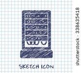 server cabinet vector sketch...