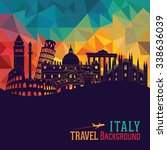 italy skyline. vector... | Shutterstock .eps vector #338636039