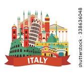 italy. vector illustration | Shutterstock .eps vector #338636048