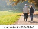 senior citizen couple taking a... | Shutterstock . vector #338638163