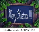 background from christmas tree... | Shutterstock . vector #338655158