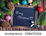 christmas decoration on the... | Shutterstock . vector #338655206