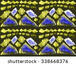 seamless monochrome vintage... | Shutterstock . vector #338668376