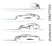 set of modern car silhouettes.... | Shutterstock . vector #338677310