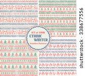 set of christmas seamless... | Shutterstock .eps vector #338677556